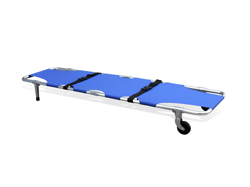 Folding stretcher (two wheels and two legs)